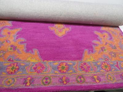 nuLOOM Hand Tufted Wool Persian Medallion Area Rug Pink 4' x 6' SPRE40B - Hand Tufted Wool Persian Rug
