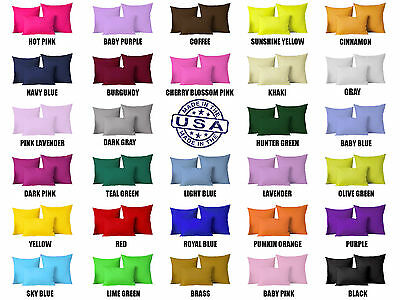 Solid Color Square Home Sofa Decor Pillow Cover Case Cushion Cover 12 18 24 26 Square Decorator Pillow