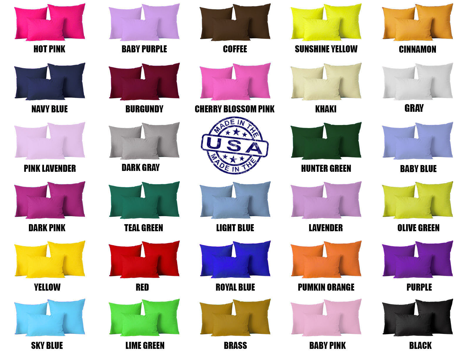 Solid Color Square Home Sofa Decor Pillow Cover Case Cushion