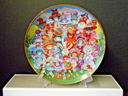 "Franklin Mint Bill Bell Decorative ""EASTER PURRADE "" Cat Plate 8 1/8"""