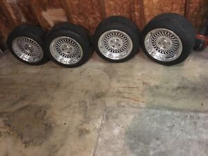 4x100 klutch rim and tire package brand new