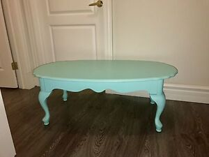 Tiffany Blue Coffee Table and matching 2tier side table