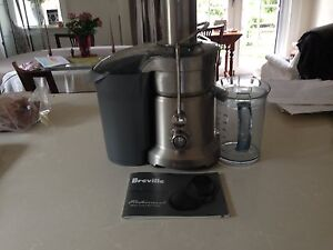 Breville BJE820 Dual Disc Juicer Processor Professional 800 Serie Cremorne North Sydney Area Preview