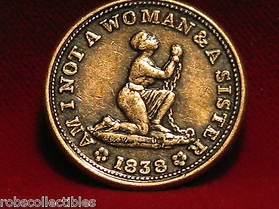 1838 USA Hard Time tokens Anti-slavery- (Modern Copies) Comes as a set of 2