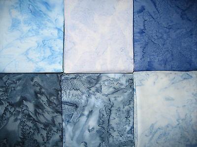 Patchwork Quilt Stoff - Moda Kota Batik blau 15,- €/m Blau Quilten Stoff