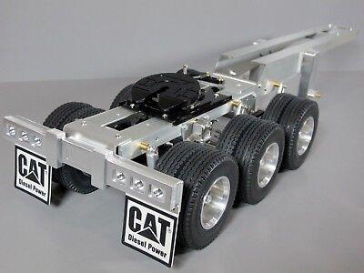 Aluminum Tamiya 1/14 R/C Semi Truck 3 Axles Dolly Trailer 5th with wheel -