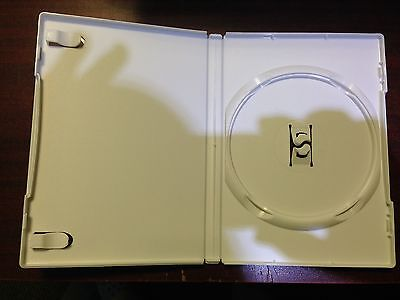 Lot of 10 White 14mm Standard Hard Good Quality Empty DVD Cases with the insert