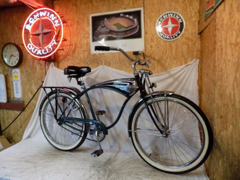 1995 SCHWINN CRUISER CLASSIC MENS TANK BIKE VINTAGE B6 PHANTOM BICYCLE+SPRINGER!