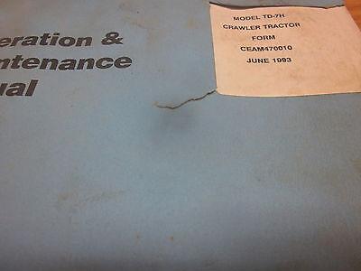 Dresser Td-7h Crawler Tractor Operation Maintenance Manual