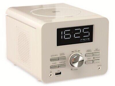 Uhrenradio CDR 274 mit CD-Player, weiß, B-Ware (Uhr Mit Cd-player)