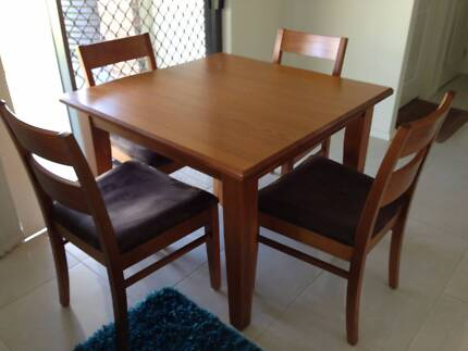 Lovely solid square dining table with 4 chairs Muswellbrook Muswellbrook Area Preview