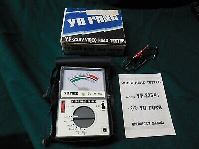 Vhs Video Head Tester Used Good Condition Portable With Carrying Case.