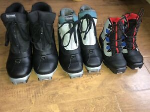 3 pairs of Ski boots (cross country) Salomon