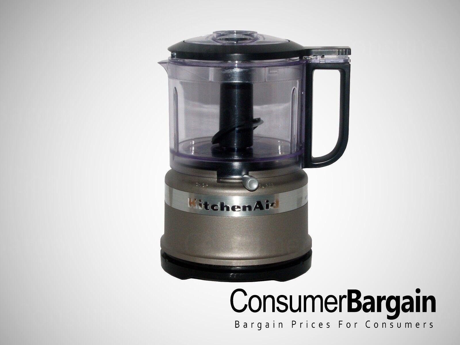 Details about KitchenAid KFC3516CS 3.5 Cup Mini Food Processor Guaranteed  Refurbished BPA-Free