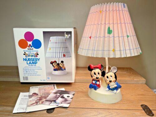 Vintage Walt Disney Dolly Toy Baby Mickey Mouse Nursery Lamp Night Light W/ BOX