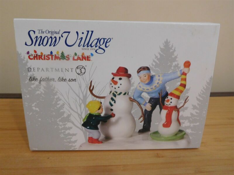 Dept 56 Snow Village - Christmas Lake - Like Father, Like Son - NIB Free Ship