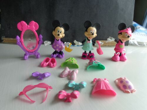 Minnie Mouse Bowtique Snap N Style Snap On Clothes Toy Lot Mattel