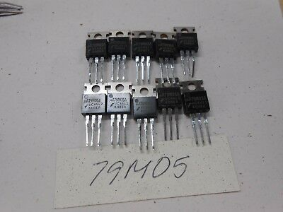 79m05 Vintage Voltage Regulator Lot Of 10 To-220 Package Bgx