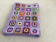 BEAUTIFULLY MADE MULTI COLOURED CROCHET RUG Aspendale Gardens Kingston Area Preview