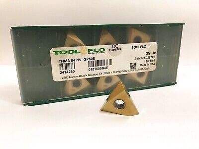 Tool-flo Tnma 54 Nv New Carbide Inserts Grade Gp50e 7pcs