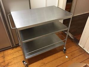 FLYTTA Kitchen Trolley IKEA Bench Stainless Steel Island Counter Yeronga Brisbane South West Preview