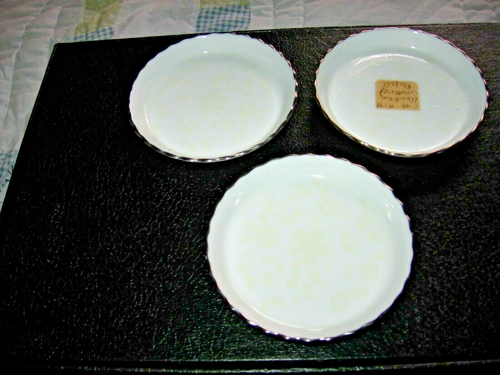 Minton Paisley White Bone China Coasters 3 Mint Condition LOOK 40 OFF  - $5.95