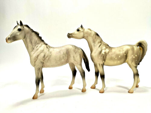 2 Two Breyer Molding Company Spotted Appaloosa Horses EUC!