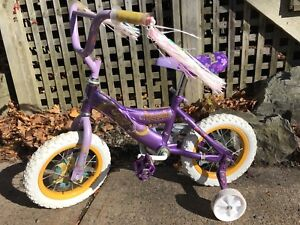"Girls 12"" Disney Rapunzel Bike with Training Wheels"