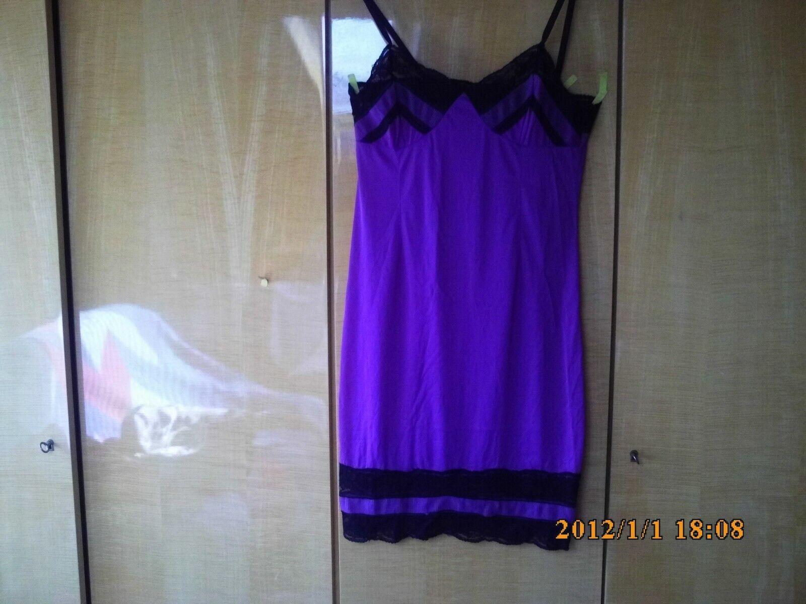 Sehr schönes Perlon Nylon Unterkleid Unterrock Gr.46 Farbe brommbeer