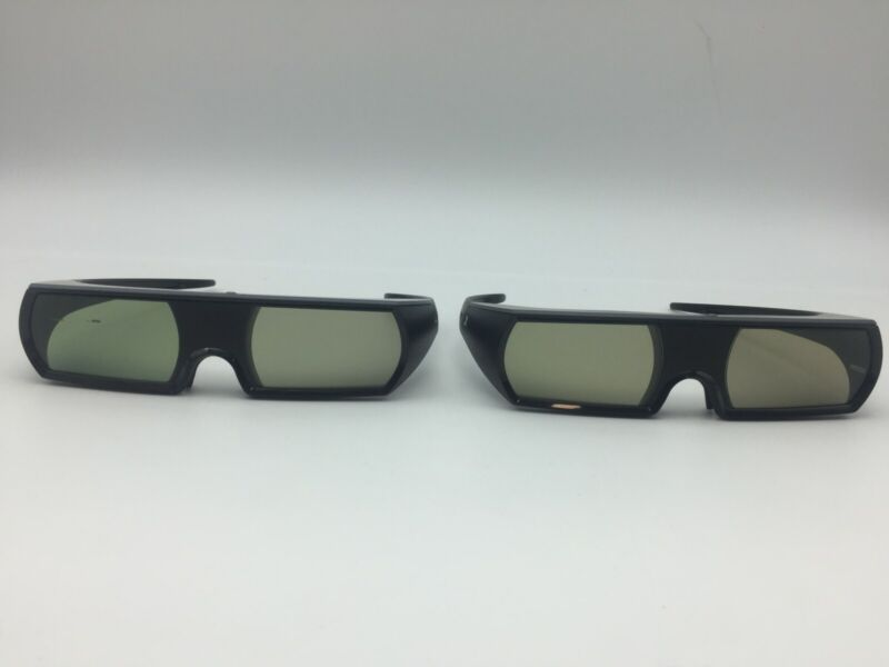 Lot of 2 - Sony 3D Rechargeable Glasses (Playstation 3, PS3) - UNTESTED