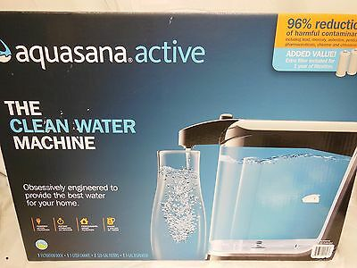 New Aquasana Active Clear out Water NSF Certified Filtration System with 2 Filters