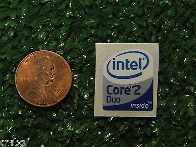 NEW! Intel Core 2 Duo 16mm x 19.5mm sticker, label,  case badge USA Seller!