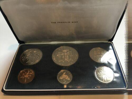 1970 JAMAICA PROOF SET FRANKLIN MINT 6-COIN SET