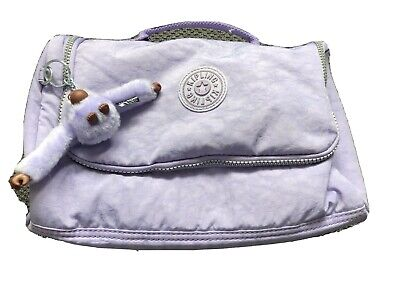 Kipling Vanity Travel Bag, Liliac Colour, 3 Zip Pockets, Hanging Hook. Used.