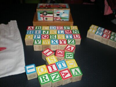 ~MELISSA & DOUG VINTAGE PUZZLE AND WOODEN ABC BLOCKS...6.99