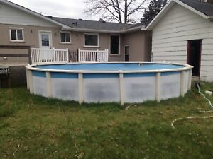 24 foot pool and all accessories