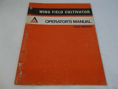 Allis-chalmers 1350 Series Wing Field Cultivator Operators Manual
