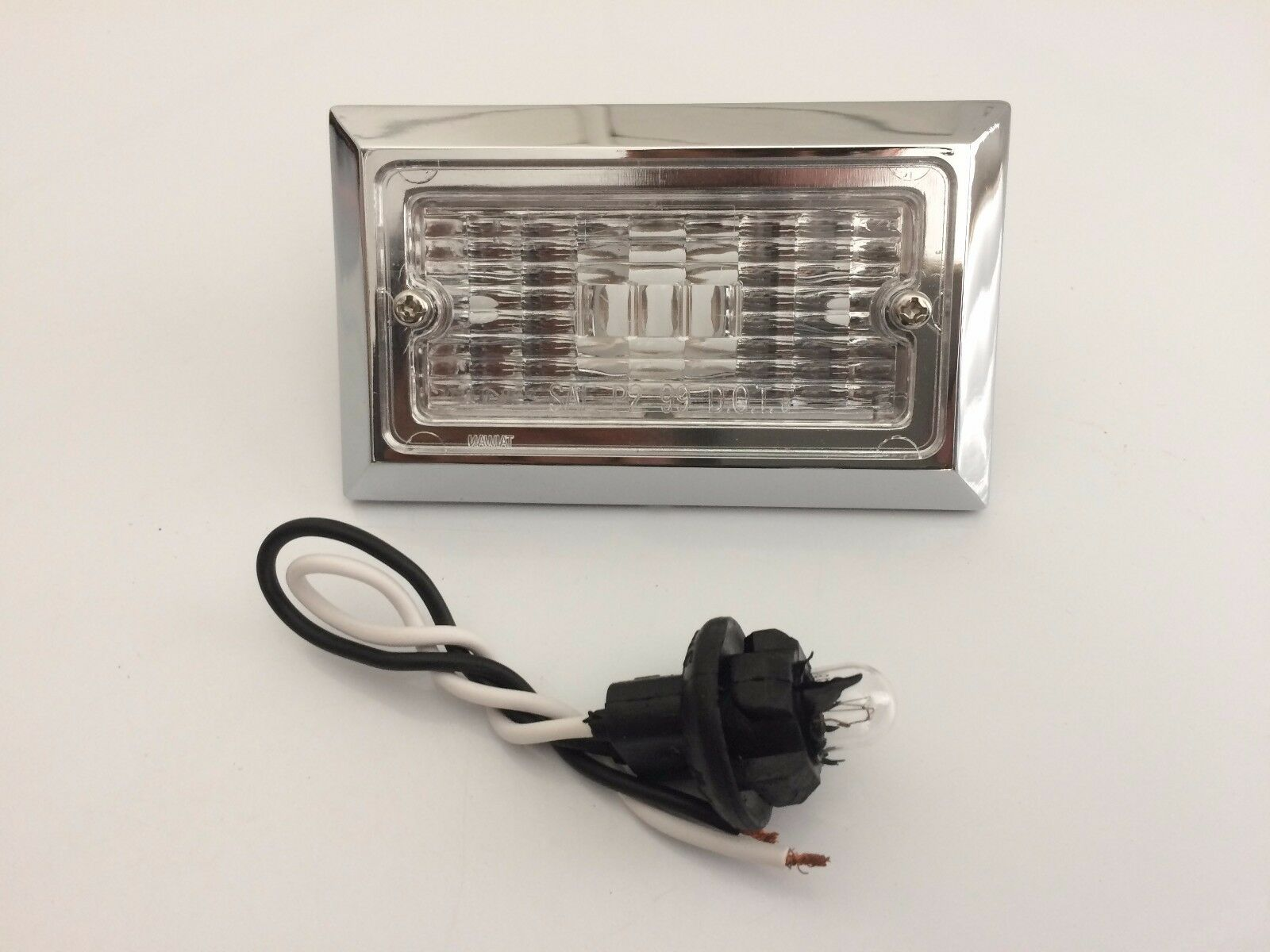 "3.75""x 2.5""  Inch Clear Chrome Backup Utility Light Trailer Tractor Inches Truck"