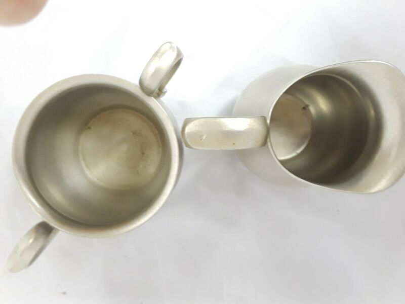 Vintage 1930s Reed & Barton Pewter 5 oz Creamer (P965) and Sugar Bowl (P963) Set