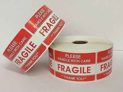 300 Labels 2x3 Please Fragile Handle With Care Shipping Mailing Stickers