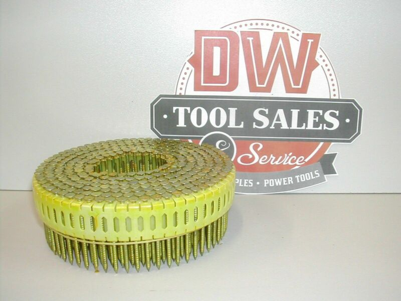 """Coil Nails 1 3/4"""" x .092 Ring Shank Galvanized Zero 0 Degree for DuoFast (9,000)"""