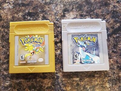 Pokemon Gold and Silver Bundle-GameBoy Color- Authentic, Original Games