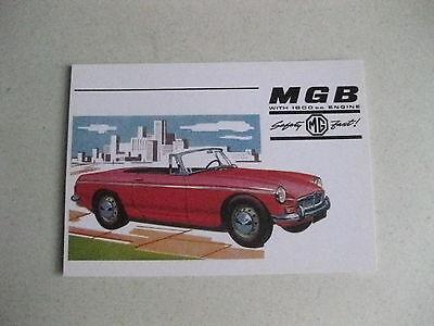 MG MGB ROADSTER CLASSIC CAR POSTCARD OF AN ORIGINAL ADVERT 1960,S NEW