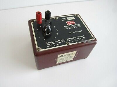 Cornell-dubilier Decade Capacitor Box Model Cdc3