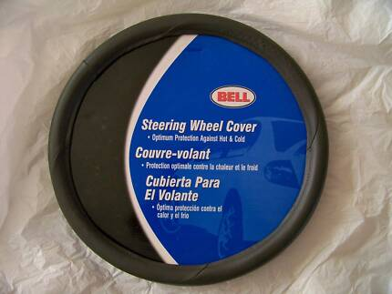 BRAND NEW STEERING WHEEL COVER - HAS LOOK & FEEL OF LEATHER