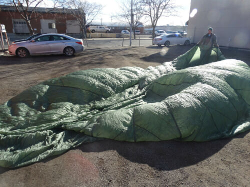 US Military 24ft Olive Drab Nylon Parachute no lines