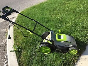"""LAWNMASTER 18"" LAWN MOWER ELECTRIC LAWNMOWER 36V CORDED  $100"