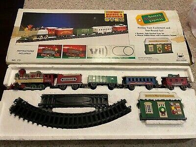 Vintage New Bright Santas Musical Express Christmas Train Set ElectronicNo. 173