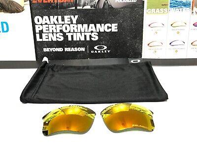 Oakley Flak Jacket 1.0 XLJ Fire Iridium Polarized lens set - SKU# 13-732 (Oakley Fire Iridium Polarized)
