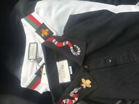 Black and white authentic Gucci polos